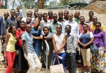 Swedish Ambassador together with School of Journalism Students at Gikondo Campus. Patience Nduwayezu