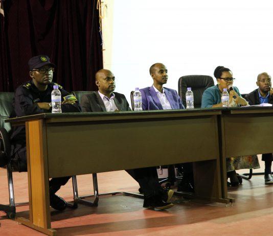 Speakers at the public talk